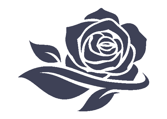 rose icon in blue